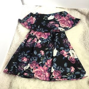 TRAC | Strapless Floral Dress